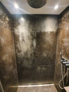 Viakal stain marble shower removal