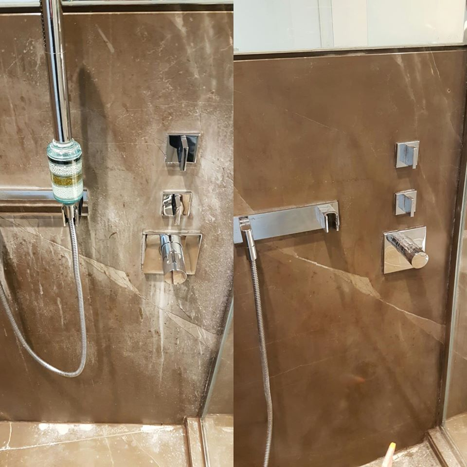 Viakal Stain Removal From Marble Shower